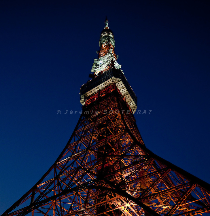 Tokyo, July 27 2010 - Tokyo tower, second highest building in Japan.