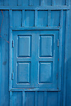 Blue Wooded Shuttered Window