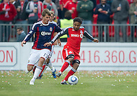02 April 2011:Chivas USA forward Justin Braun #17 and Toronto FC forward Javier Martina #33 in action during an MLS game between Chivas USA and the Toronto FC at BMO Field in Toronto, Ontario Canada...