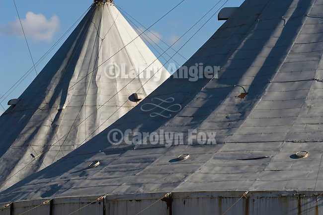 "Grain elevator ""tents"", Minot, North Dakota"