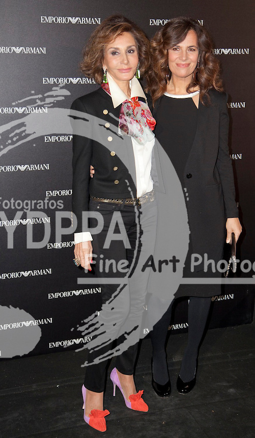 08/04/2013. Madrid. spain. Roberta Armani opens a new Emporio Armani Store in Serrano Street in Madrid. <br /> Nati Abascal;Roberta Armani