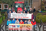 "TRACTOR: Students from ITT Tralee getting ready for their tractor run from Tralee to Roscommon to raise funds for Air Ambulance, on Wednesday in the South Campus ITT. Front l-r: Padraig Harty, Shane Buckley, Pa McInerney, Conor Snith, Garoid O'Shea, Ross Whiteford and Sean Rus (Air Ambulance). ""nd Row l-r: Francis Griffin, David Halvey, Terry Hearney, Colm O'Brien, Joseph Moynihan and David Kincaid. Back l-r: James Buckley, Derek Rowe (Air Ambulance) and Pat McCarthy (Organiser/Lecturer)........   Copyright Kerry's Eye 2008"