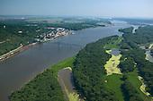 Bridge on Mississippi River at Savanna Illinois.