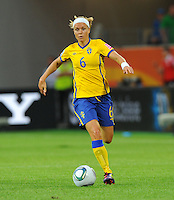 Sara Thunebro of team Sweden during the FIFA Women's World Cup at the FIFA Stadium in Wolfsburg, Germany on July 6thd, 2011.