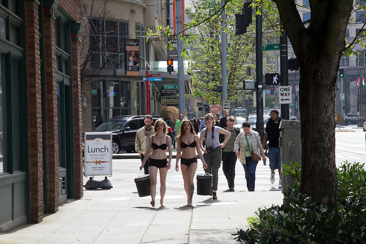 Street protest over sexism, Seattle,
