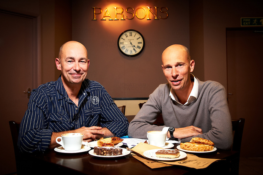 Portrait of Nick and Jerry Parsons, directors of Parsons Bakery Ltd. Parsons Bakery Ltd is a family run bakery based in Bristol with stores in Bristol, South Gloucestershire and North Somerset.