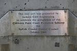 Coastal defences, Felixstowe, Suffolk, England. Cobbolds Point Coast Protection Scheme.