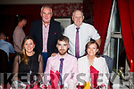 Celebrating their Graduation from IT Tralee at Cassidy's on Friday  were Front l-r Hannah Sheehy, Graduate Aidan O'Donoghue (Hotel Management), Martina O'Donoghue, Back l-r Padraig Quill and Timmy O'Donoghue