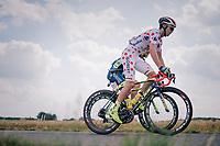 Polka Dot Jersey / KOM leader Dion Smith (AUS/Wanty-Groupe Gobert)<br /> <br /> Stage 4: La Baule &gt; Sarzeau (192km)<br /> <br /> 105th Tour de France 2018<br /> &copy;kramon