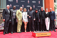 14 May 2019 - Hollywood, California - Chad Stahelski, Lance Reddick, Laurence Fishburne, Halle Berry, Keanu Reeves, Ian McShane, Asia Kate Dillon, Mark Dacascos. The Keanu Reeves Hand And Foot Print Ceremony held at The TCL Chinese Theatre.       <br /> CAP/ADM/FS<br /> ©FS/ADM/Capital Pictures