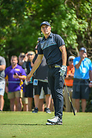 Jordan Spieth (USA) watches his tee shot on 3 during Round 1 of the Zurich Classic of New Orl, TPC Louisiana, Avondale, Louisiana, USA. 4/26/2018.<br /> Picture: Golffile | Ken Murray<br /> <br /> <br /> All photo usage must carry mandatory copyright credit (&copy; Golffile | Ken Murray)