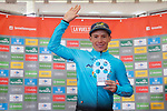Miguel Angel Lopez Moreno (COL) Astana on the podium at the end of Stage 20 of the 2017 La Vuelta, running 117.5km from Corvera de Asturias to Alto de l'Angliru, Spain. 9th September 2017.<br /> Picture: Unipublic/&copy;photogomezsport | Cyclefile<br /> <br /> <br /> All photos usage must carry mandatory copyright credit (&copy; Cyclefile | Unipublic/&copy;photogomezsport)