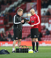 Bolton Wanderers' Kitman Paul Huddy and Head of Sports Science Nick Allamby<br /> <br /> Photographer Rob Newell/CameraSport<br /> <br /> The EFL Sky Bet Championship - Brentford v Bolton Wanderers - Saturday 22nd December 2018 - Griffin Park - Brentford<br /> <br /> World Copyright © 2018 CameraSport. All rights reserved. 43 Linden Ave. Countesthorpe. Leicester. England. LE8 5PG - Tel: +44 (0) 116 277 4147 - admin@camerasport.com - www.camerasport.com