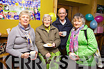 Anne Dee, Mary Scully and John and Frances O'Keeffe, enjoying a cuppa at the Listowel Branch of the Kerry Hospice morning held in Christy's The Well bar in the Square, Listowel.