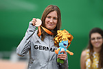 Denise Schindler (GER), <br /> SEPTEMBER 16, 2016 - Cycling - Road : <br /> Women's Road Race C1-2-3 Medal Ceremony <br /> at Pontal <br /> during the Rio 2016 Paralympic Games in Rio de Janeiro, Brazil.<br /> (Photo by AFLO SPORT)
