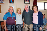 All smiles at the Céilí held in the Ceolann Lixnaw on Sunday were L-r John Roche Eileen Loftus, Brendan Fealy and Philomena O'Sullivan
