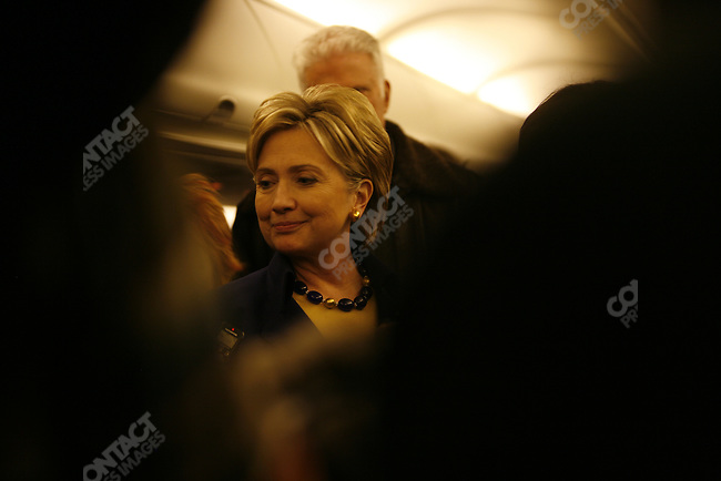 Senator Hillary Clinton (D-NY), potential Democratic presidential candidate, campaigns across Ohio in an effort to gain votes in the run-up to the Ohio and Texas primaries. Ohio, March 2, 2008.