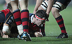 Robin Copeland of Munster Rugby scores Munsters first try of the game.<br /> <br /> Guiness Pro 12<br /> Newport Gwent Dragons v Munster Rugby<br /> Rodney Parade<br /> 21.11.14<br /> &copy;Steve Pope-SPORTINGWALES