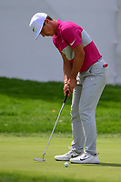 Thorbjorn Olesen (DEN) watches his putt on 10 during Saturday's round 3 of the World Golf Championships - Bridgestone Invitational, at the Firestone Country Club, Akron, Ohio. 8/5/2017.<br /> Picture: Golffile | Ken Murray<br /> <br /> <br /> All photo usage must carry mandatory copyright credit (&copy; Golffile | Ken Murray)