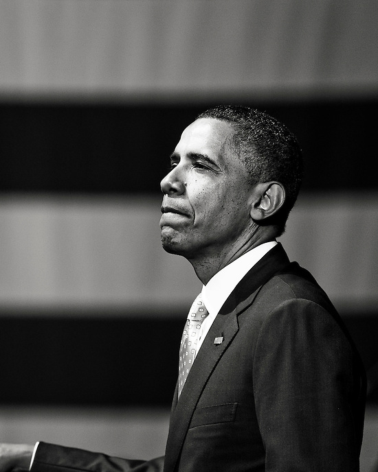 President Barack Obama gives a speech at a campaign stop at the Austin City Limits Moody Theater in Austin, Texas.