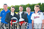 Photographed with their service mechanics at the finish of the Circuit of Munster rally at the Woodlands hotel,Adare Co Limerick last Sunday were L-R Tom Mulvihill(Tarbert)competitors Mike and Paddy Costello from Asdee,Jason Costello and Shane Mulvihill also from Tarbert.