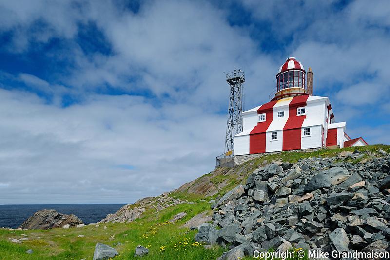Cape Bonavista Lighthouse on Bonavista Bay in the Atlantic Ocean<br /> Cape Bonavista<br /> Newfoundland & Labrador<br /> Canada