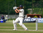 June 12th 2017, Trafalgar Road Ground, Southport, England; Specsavers County Championship Division One; Day Four; Lancashire versus Middlesex; Dawid Malan of Middlesex brought up his half century this morning before being dismissed by Ryan McLaren