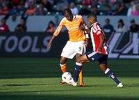 CARSON, CA - March 11, 2012: Houston Dynamo forward Macoumba Kandji (9) during the Chivas USA vs Houston Dynamo match at the Home Depot Center in Carson, California. Final score Houston Dynamo 1, Chivas USA 0.