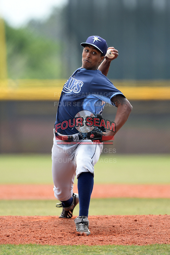 Tampa Bay Rays minor league pitcher Josh Kimborowicz (88) during an extended spring training game against the Boston Red Sox on April 16, 2014 at Charlotte Sports Park in Port Charlotte, Florida.  (Mike Janes/Four Seam Images)
