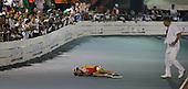 Martha Ramirez de Bogota yace en la pista luego de una caer en la final de 15.000m baterias de patinaje carreras mujeres durante los Juegos Deportivos Nacionales en el Patinodromo Enrique Lara en Cucuta, Norte de Santander, Colombia, martes 6 noviembre 6, 2012.<br /> Foto: Coldeportes/Archivolatino<br /> <br /> <br /> COPYRIGHT: Coldeportes. Imagen distribuida por el servicio gratuito de difusion de los Juegos Deportivos Nacionales 2012. Prohibida su venta y su uso comercial.