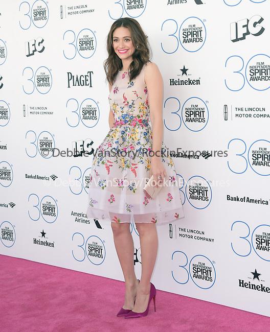 Emmy Rossum attends 2015 Film Independent Spirit Awards held at Santa Monica Beach in Santa Monica, California on February 21,2015                                                                               © 2015Hollywood Press Agency