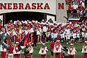 11 September 2010: Nebraska's head coach Bo Pelini leads the Cornhuskers out on the field before the game against Idaho at Memorial Stadium in Lincoln, Nebraska. Nebraska defeated Idaho 38 to 17.