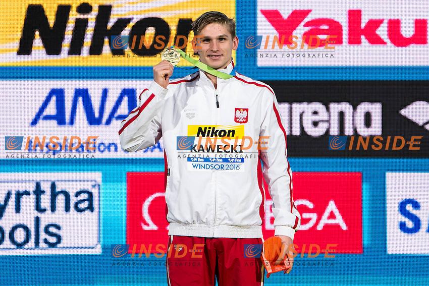 KAWECKI Radoslaw POL Gold MEdal <br /> Men's 200m Backstroke<br /> 13th Fina World Swimming Championships 25m <br /> Windsor  Dec. 11th, 2016 - Day06 Finals<br /> WFCU Centre - Windsor Ontario Canada CAN <br /> 20161211 WFCU Centre - Windsor Ontario Canada CAN <br /> Photo &copy; Giorgio Scala/Deepbluemedia/Insidefoto
