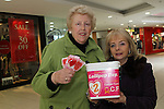 Eithne Doggett and Olive Carty selling lollipops for Lollipop Day funding oesophageal cancer research in Ireland...(Photo credit should read Jenny Matthews/NEWSFILE)...