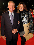 Bob Hogan and Carrie Colbert on the red carpet at Fashion Houston at the Wortham Theater Wednesday Nov.13,2013.  (Dave Rossman photo)