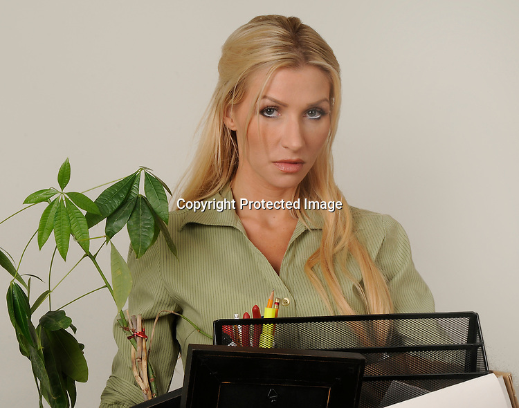 Stock photo of a woman fired from her job