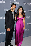 SANTA MONICA, CA. - September 13: Actor David Charvet and Actress Brooke Burke arrive at the 4th Annual Pink Party at Barker Hanger on September 13, 2008 in Santa Monica, California.