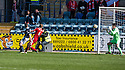 Dundee's Stephen McGinn scores their equalising goal.