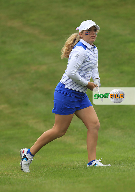 Bronte Law on the 7th during the Friday afternoon Fourballs of the 2016 Curtis Cup at Dun Laoghaire Golf Club on Friday 10th June 2016.<br /> Picture:  Golffile   Thos Caffrey