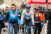 25th March 2018, Barcelona, Spain; Volta a Catalunya 2018 Cycling, Stage 7; Alejandro Valverde of Movistar TEAM finishes stage 7 of la Volta Catalunya and wins the tour