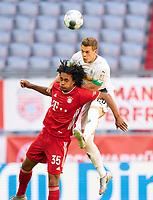 13th June 2020, Allianz Erena, Munich, Germany; Bundesliga football, Bayern Munich versus Borussia Moenchengladbach; Joshua ZIRKZEE, FCB beaten to the header by Matthias GINTER, MG