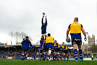 Bath Rugby forwards practise their lineout during the pre-match warm-up. Gallagher Premiership match, between Bath Rugby and Harlequins on March 2, 2019 at the Recreation Ground in Bath, England. Photo by: Patrick Khachfe / Onside Images