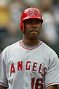 Garret Anderson, of the Los Angeles Angels, in action against the Oakland A's during their game on April 22, 2006...Angels win 5-4..Rob Holt / SportPics
