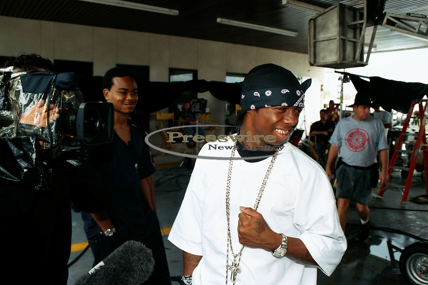 Lil Wayne on the #1 Stunna video shoot in New Orleans, City Park on June 17, 2000.  Photo credit:  Presswire News/Elgin Edmonds