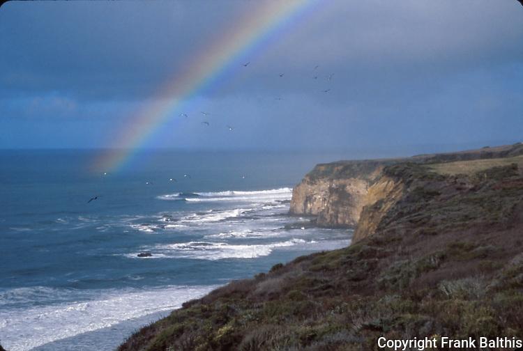 rainbow over Pacific Ocean near Davenport, CA