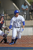 University of Kentucky Wildcats pitcher/DH A.J. Reed #18 at bat during a game against the University of Virginia Cavaliers at Brooks Field on the campus of the University of North Carolina at Wilmington on February 14, 2014 in Wilmington, North Carolina. Kentucky defeated Virginia by the score of 8-3. (Robert Gurganus/Four Seam Images)