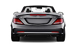 Straight rear view of 2017 Mercedes Benz SLC AMG 2 Door Convertible Rear View  stock images