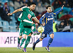 Getafe's Victor Rodriguez (r) and Sociedad Deportiva Eibar's Mauro Dos Santos during La Liga match. March 18,2016. (ALTERPHOTOS/Acero)
