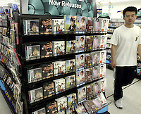 CD&DVD in the first supercenter of Wal-Mart in Beijing, China..18 May 2005
