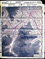 BNPS.co.uk (01202 558833)<br /> Pic: NationalTrust/BNPS<br /> <br /> Top Secret  - Hughenden's map of Berchtesgaden, Hitlers Bavarian hideaway flattened by a famous RAF Lancaster raid late in the war.<br /> <br /> Secret rooms at a stately home where brilliant map-makers played a pivotal role in helping Britain to win the war have been opened to the public for the first time.<br /> <br /> Hughenden Manor, in Bucks, once home to the Victorian prime minster Benjamin Disraeli, was requisitioned by the Air Ministry in 1941 and given the codename 'Hillside'.<br /> <br /> In its confines, more than 3,500 hand drawn maps were produced for the RAF bombing campaigns, including the legendary Dambusters Raid and a raid on the Berchtesgaden, Hitler's famous mountain retreat.<br /> <br /> Previously hidden away under lock and key, these rooms have been opened for the first time for a permanent display featuring photographs, records and testimonies from some of the 100 men and women who were based there in World War Two.<br /> <br /> Since they were sworn to silence under the Official Secrets Act, Hillside's crucial wartime role in fact remained unknown until 2004, when a volunteer room guide overheard Victor Gregory, a visitor to the National Trust property, tell his grandson that he was stationed there during the war.
